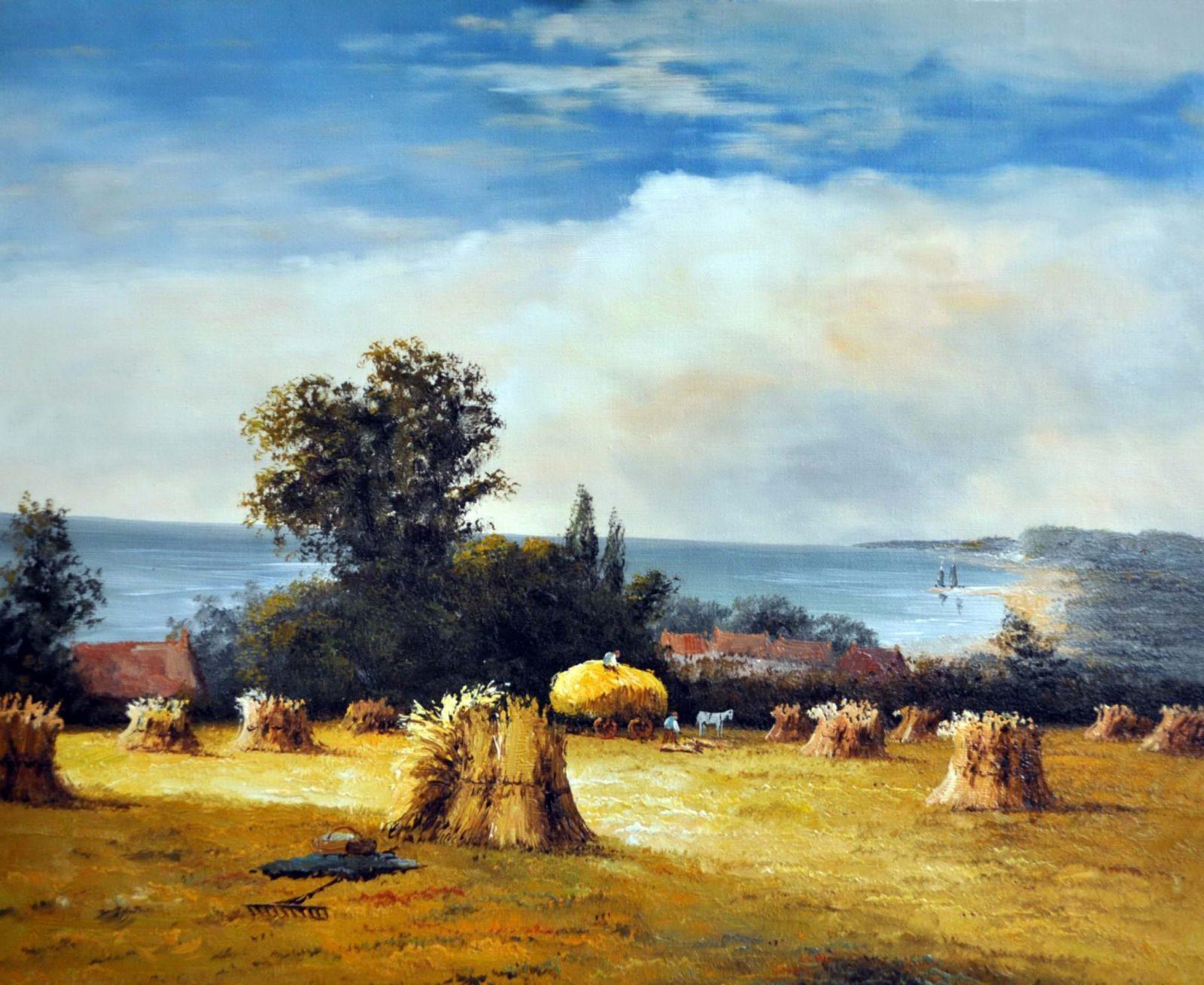 «Сельский пейзаж» картина 50х60 арт. 5П056