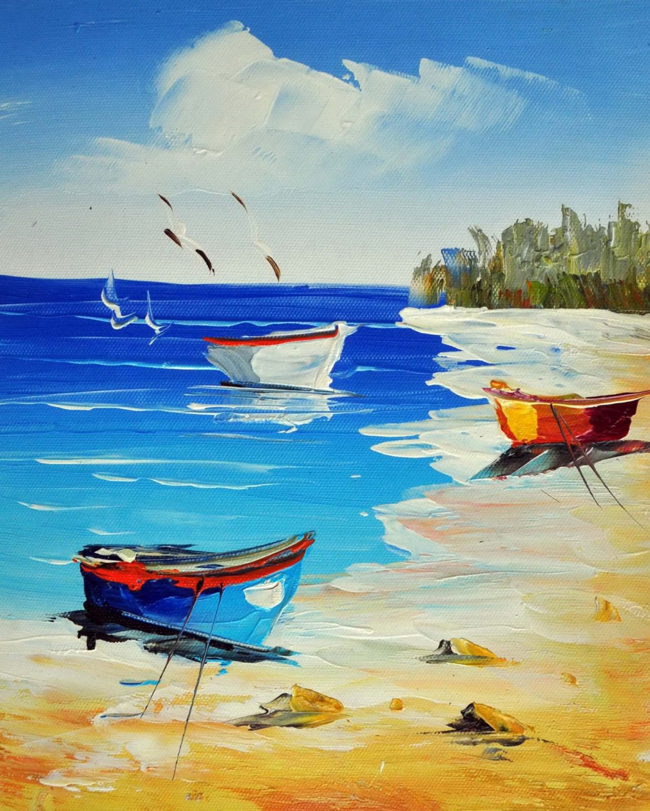 «Песчаный берег» картина 20х25 арт.2Е4
