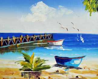«Песчаный берег» картина 20х25 арт.2Е6