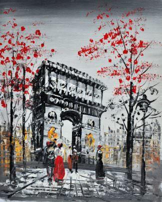 «Вечерний Париж» картина 20х25 арт.2Е14