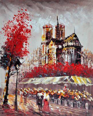 «Прогулка по Парижу» картина 20х25 арт.2Е15