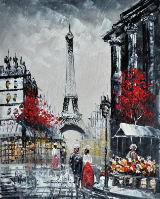 «Прогулка по Парижу» картина 20х25 арт.2Е16
