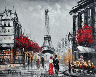«Прогулка по Парижу» картина 20х25 арт.2Е20