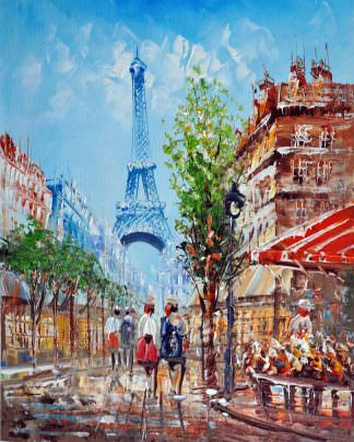 «Париж» картина 20х25 арт.2Е27