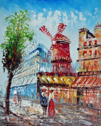 «Мулен Руж» картина 20х25 арт.2Е34