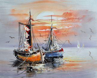 «Лодки» картина 20х25 арт.2Е38