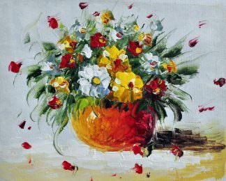 «Букет полевых цветов» картина 20х25 арт.2Е54