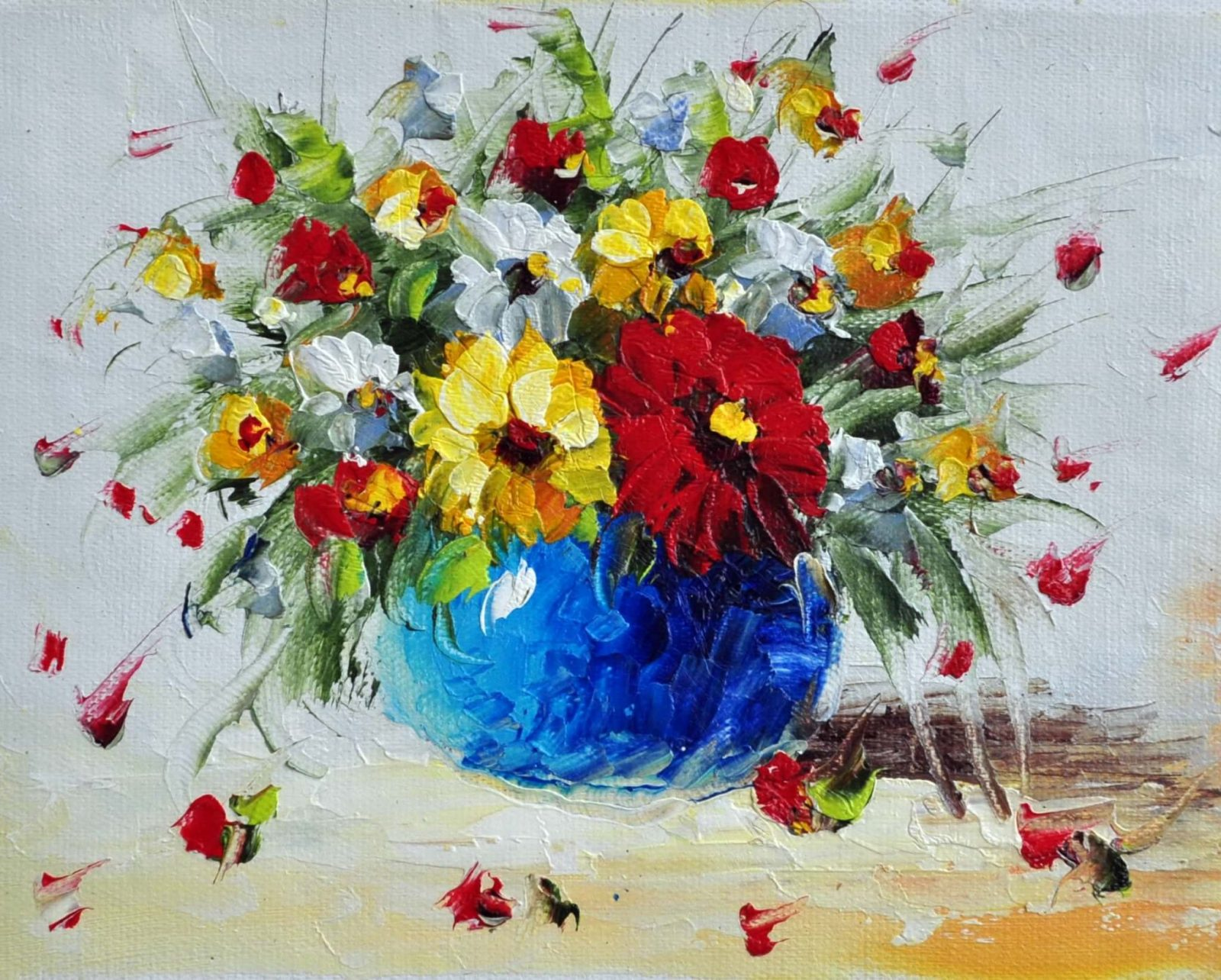 «Букет полевых цветов» картина 20х25 арт.2Е55