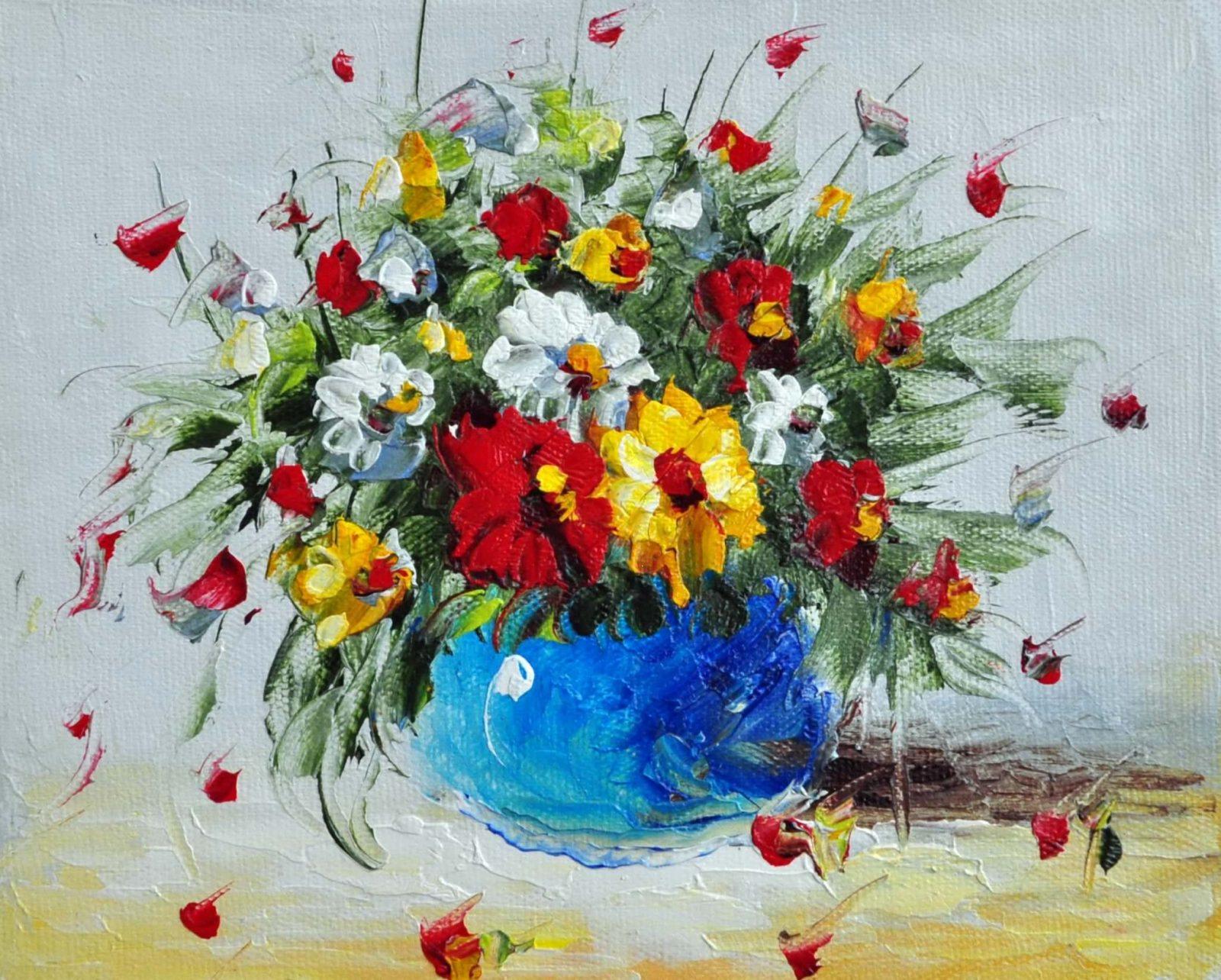 «Букет полевых цветов» картина 20х25 арт.2Е56