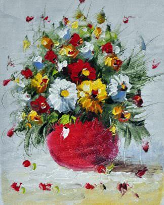 «Букет полевых цветов» картина 20х25 арт.2Е59