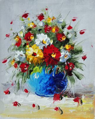 «Букет полевых цветов» картина 20х25 арт.2Е60