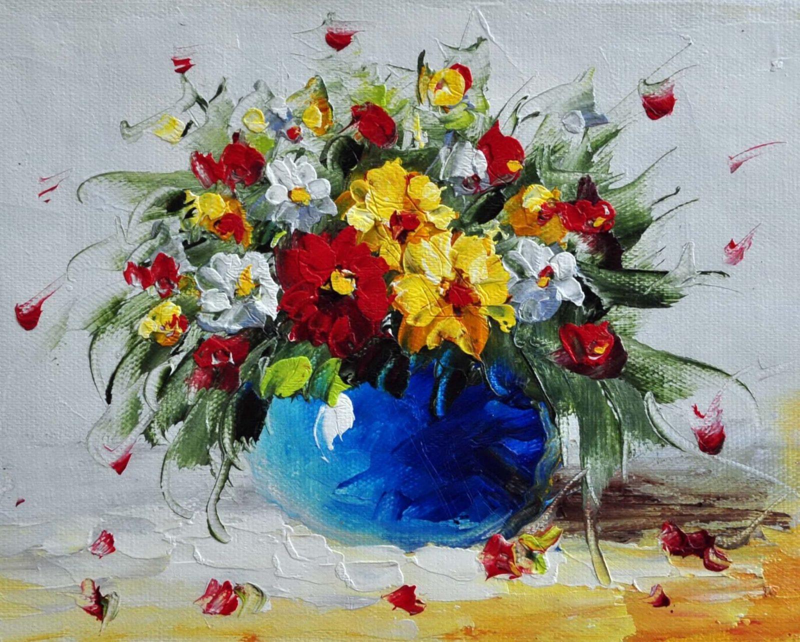 «Букет полевых цветов» картина 20х25 арт.2Е61