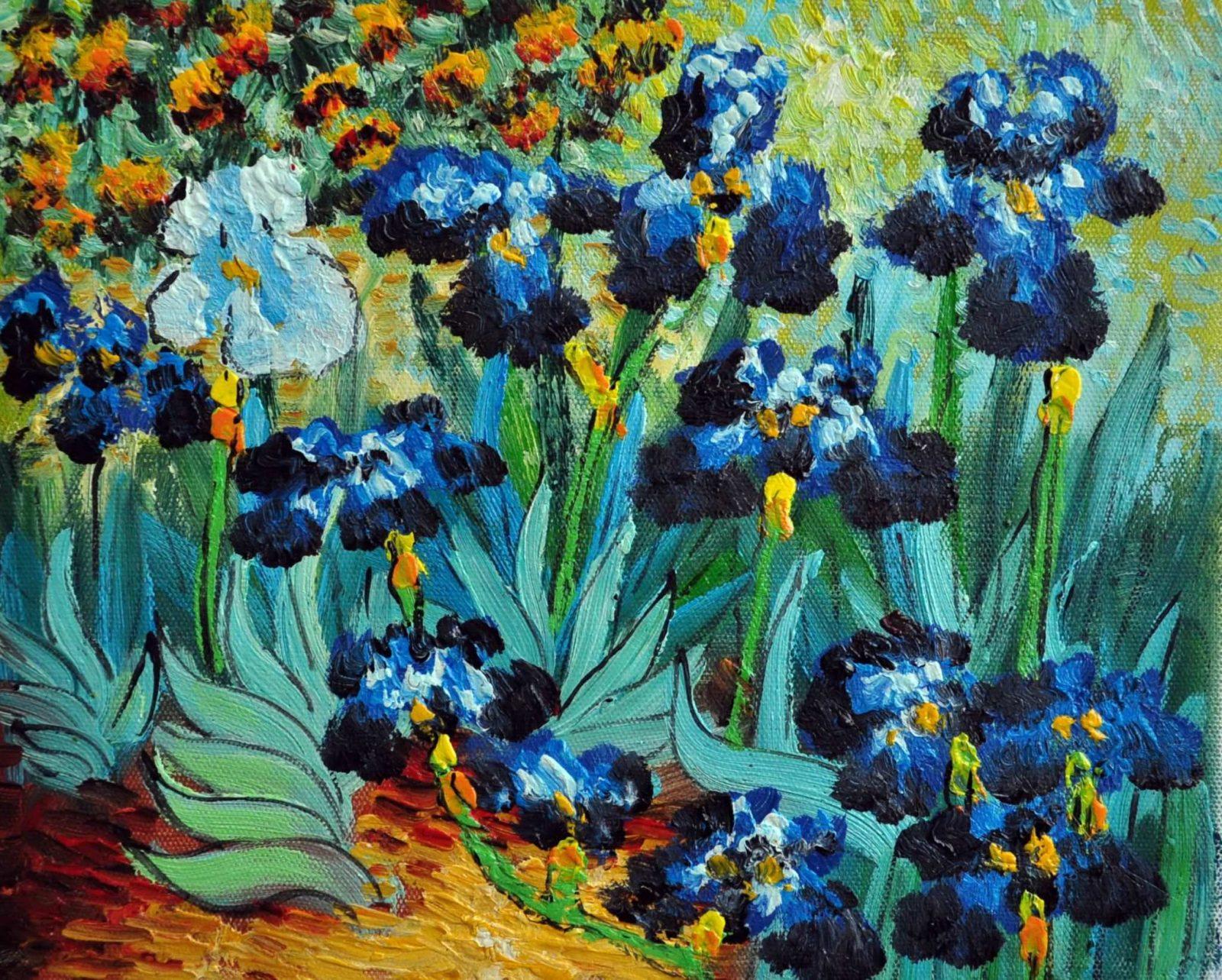 «Ирисы Ван Гога» картина 20х25 арт.2Е70