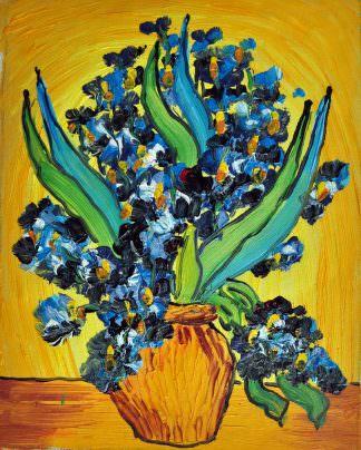 «Ирисы Ван Гога» картина 20х25 арт.2Е71