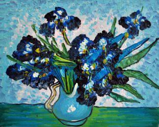 «Ирисы Ван Гога» картина 20х25 арт.2Е73