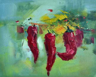 «Перцы» картина 20х25 арт.2Е79