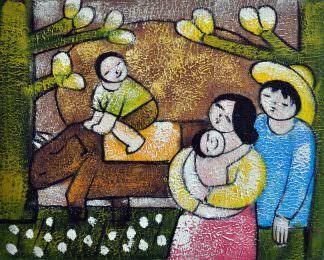 «Семья» картина 20х25 арт.2Е84