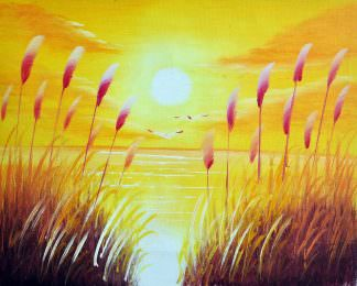 «Рассвет» картина 20х25 арт.2Е87