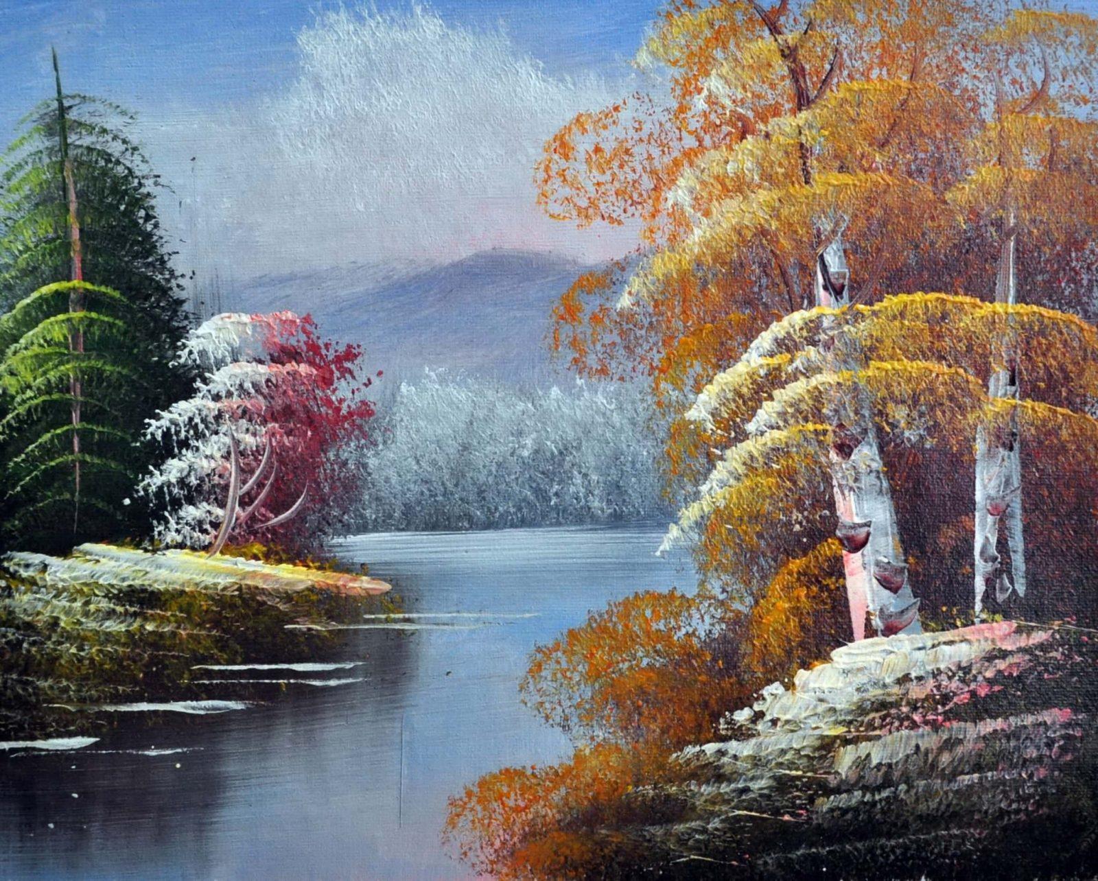 «Лесное озеро» картина 20х25 арт.2Е96