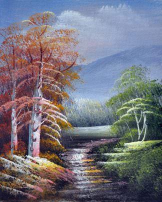 «Лесная тропа» картина 20х25 арт.2Е98