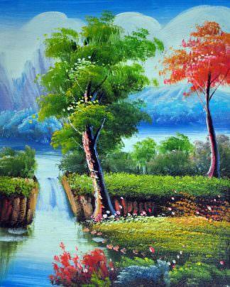 «Пейзаж» картина 20х25 арт.2Е100