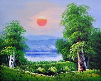 «Восход солнца» картина 20х25 арт.2Е101