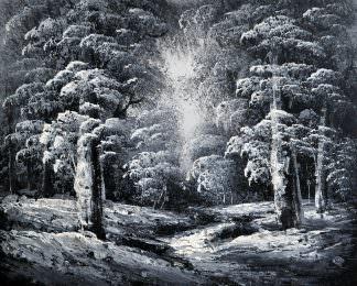 «Тропинка в лесу» картина 20х25 арт.2Е106