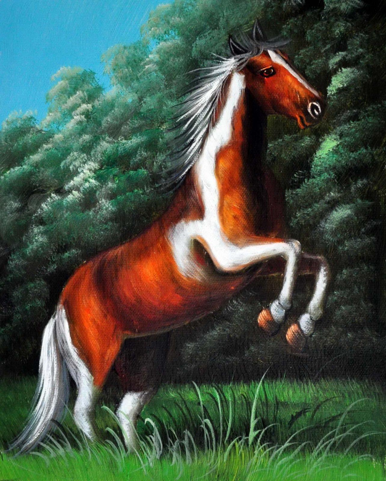 «Лошадь» картина 20х25 арт.2Е108