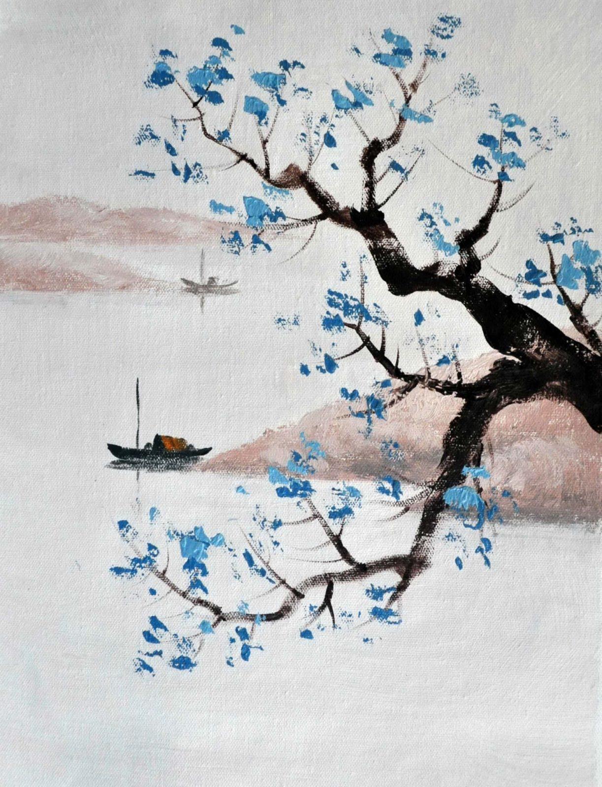 «Минималистичный пейзаж» картина 30х40 арт.3Р1