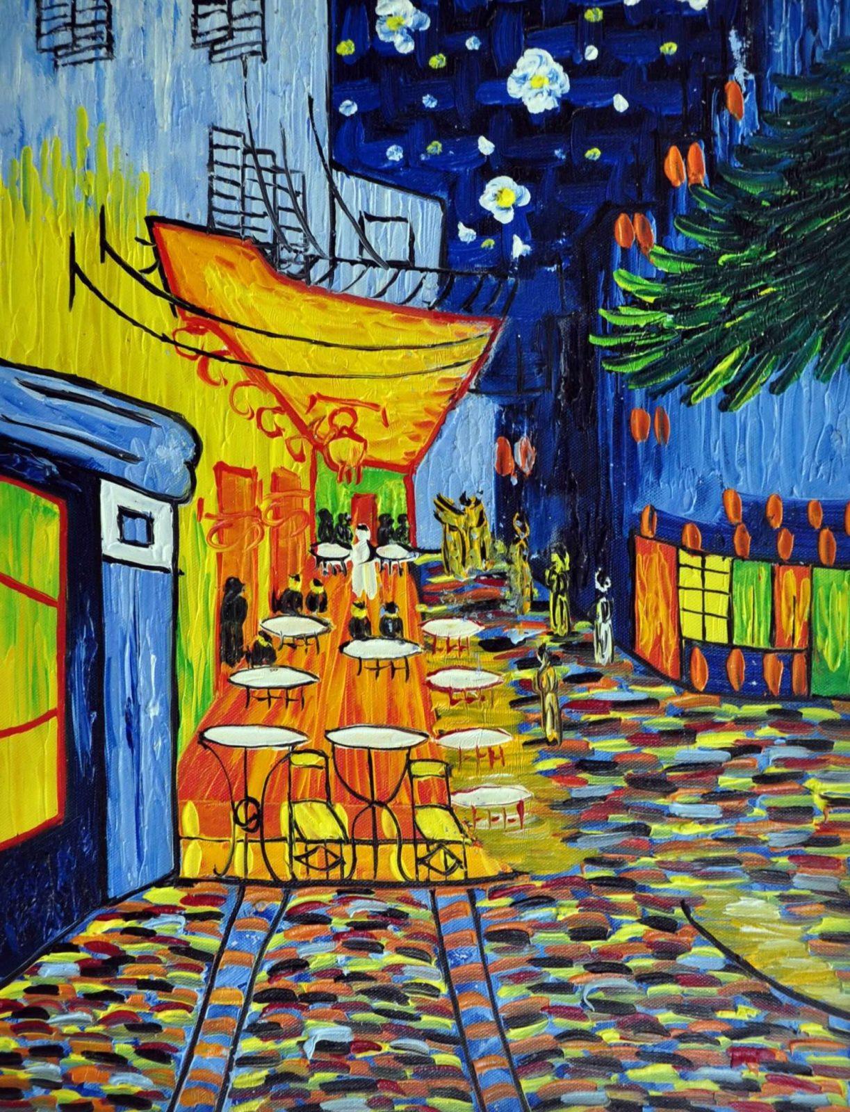 «Кафе Ван Гога» картина 30х40 арт.3Р3