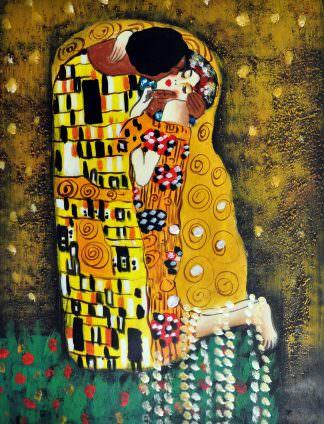 «Поцелуй Климта» картина 30х40 арт.3Р4