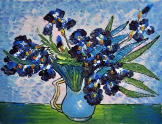 «Ирисы Ван Гога» картина 30х40 арт.3Р6