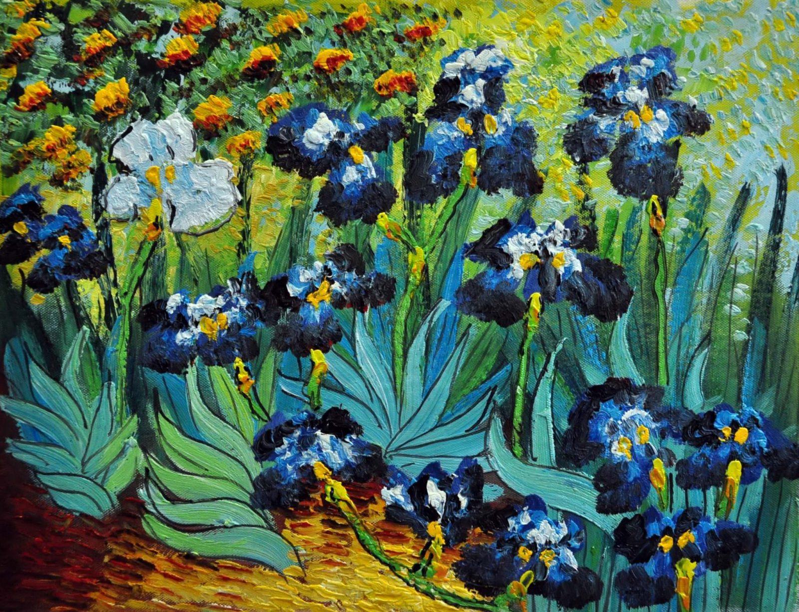 «Ирисы Ван Гога» картина 30х40 арт.3Р11