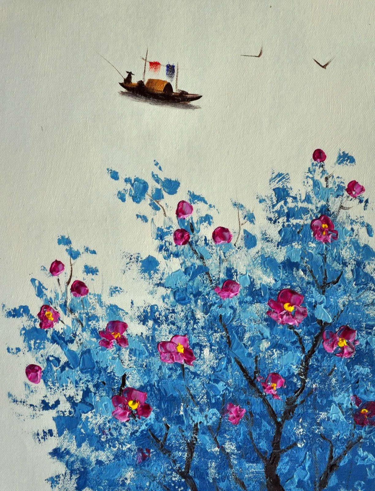 «Минималистичный пейзаж» картина 30х40 арт.3Р14