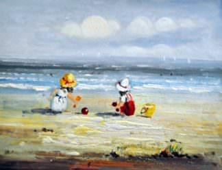 «Дети на пляже» картина 30х40 арт.3Р17