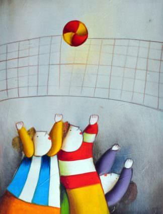«Игра в мяч» картина 30х40 арт.3Р19