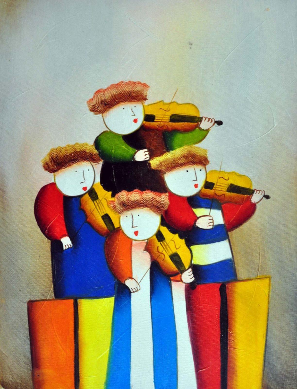 «Музыкальный квартет» картина 30х40 арт.3Р20