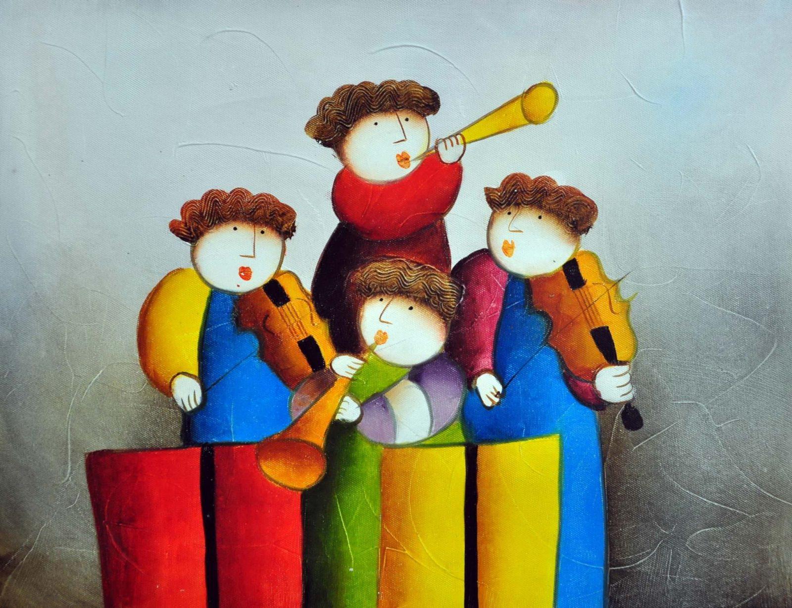 «Музыкальный квартет» картина 30х40 арт.3Р21