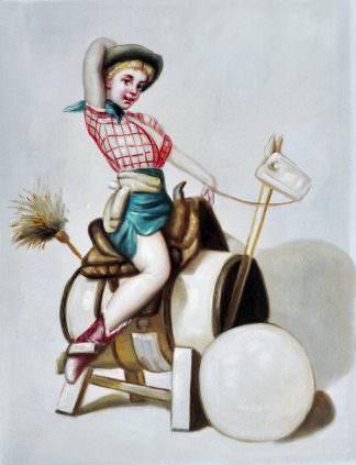 «Девушка в стиле пин-ап» картина 30х40 арт.3Р34