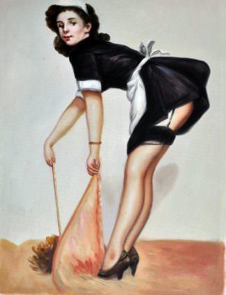 «Девушка в стиле пин-ап» картина 30х40 арт.3Р45