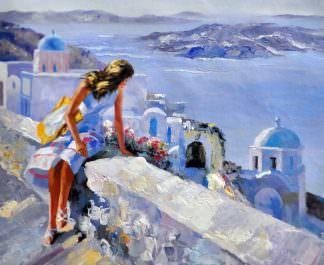 «Санторини» картина 50х60 арт. 5Р46