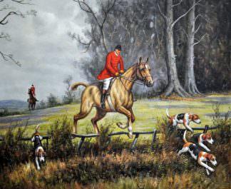 «Английская охота» картина 50х60 арт. 5Р59