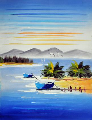 «Песчаный берег» картина 30х40 арт.3С2