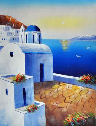 «Санторини» картина 30х40 арт.3С4