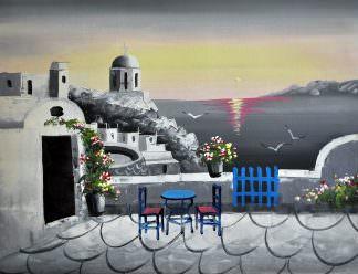 «Санторини» картина 30х40 арт.3С5