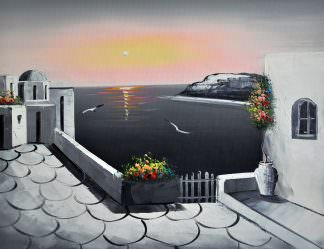 «Санторини» картина 30х40 арт.3С6
