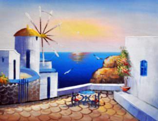 «Санторини» картина 30х40 арт.3С10