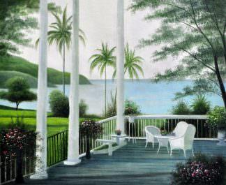 «На террасе» картина 50х60 арт. 5С30
