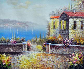 «Вид на гавань» картина 50х60 арт. 5С33