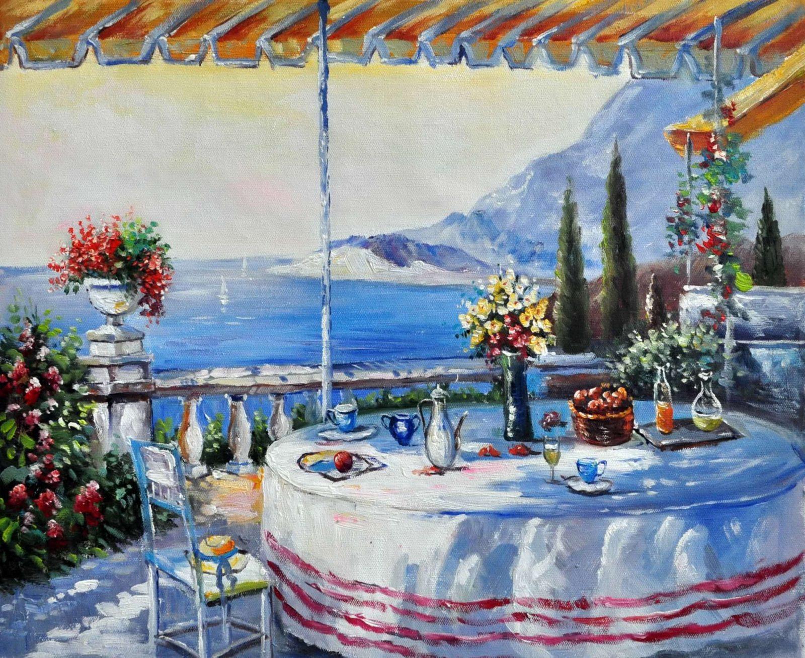 «На террасе» картина 50х60 арт. 5С37
